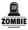 zombie death logo simple black style vector image vector image