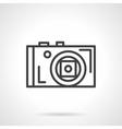 Photographer device black line icon vector image