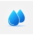 Water drops icon or logo vector image
