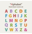 Alphabet sticer set vector image
