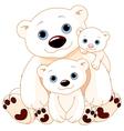 Big Polar Bear Family vector image