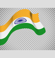 indian flag on transparent background vector image