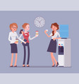 office cooler chat vector image