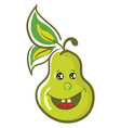 a happy green pear color vector image vector image