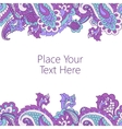 Abstract paisley border vector image vector image