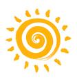 an Abstract Summer Sun vector image vector image
