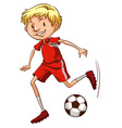 An energetic soccer player vector image vector image