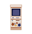 arcade game cabinet flat vector image vector image