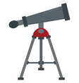 big telescope on white background vector image