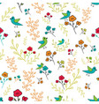blue green orange and red hand drawn flowers and vector image vector image