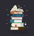books knowledge learning and education vector image vector image