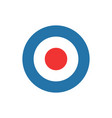 bullseye target dart icon vector image vector image