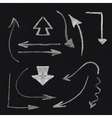 chalk arrow set vector image vector image