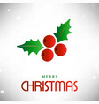 christmas background with cherries and leafs vector image vector image
