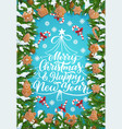 christmas tree winter holiday gingerbread cookies vector image vector image