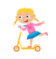 cute concept of little girl vector image
