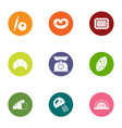 daily bread icons set flat style vector image vector image