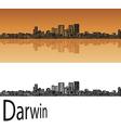 Darwin skyline in orange