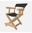 Director chair cartoon icon vector image