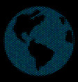 earth mosaic icon of halftone spheres vector image