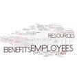 employee word cloud concept vector image vector image