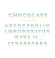 Festive chocolate font Cute letters and numbers vector image vector image