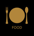 flat icon and cutlery vector image