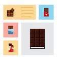 flat icon chocolate set of dessert chocolate vector image vector image