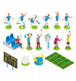 football isometric icons vector image vector image