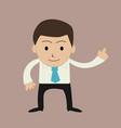 funny cartoon office businessman vector image