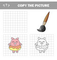 funny pig complete picture children drawing vector image vector image