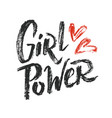 girl power lettering 01 vector image