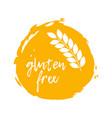 gluten free label food intolerance symbol vector image vector image
