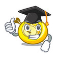 graduation cd player character cartoon vector image vector image