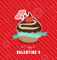 Happy valentines day cupcake sweet love vector image vector image