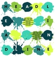 headline with color splash and blots vector image
