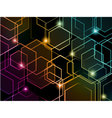 Hexagon colorful neon background vector image vector image