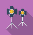 Icon of Cinema Lamp or Lighter Flat style vector image