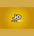 jo j o alphabet letter combination digit white on vector image
