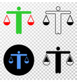 judge eps icon with contour version vector image vector image