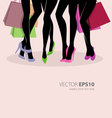 legs shopping vector image