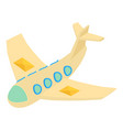 mail plane icon isometric 3d style vector image