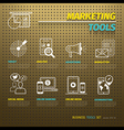 Marketing Tools on Brown Pegboard