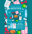 medical poster for dietetics medicine vector image