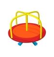 Merry-go-round cartoon icon vector image