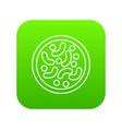 microscopic bacteria icon green vector image