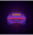 neon futuristic car glowing neon car icon vector image vector image