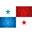 panama country flag of panamanian nation vector image
