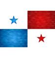panama country flag panamanian nation vector image vector image