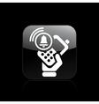 phone alarm icon vector image vector image